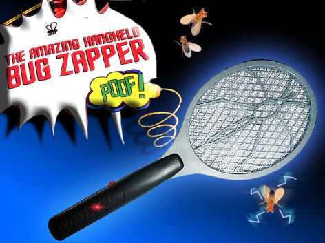 Electronic Insect Bug Zapper Racket, Mosquito, Wasp, Fly Killer